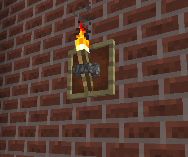 Wall Torch (Using Item Frame) | Minecraft Furniture