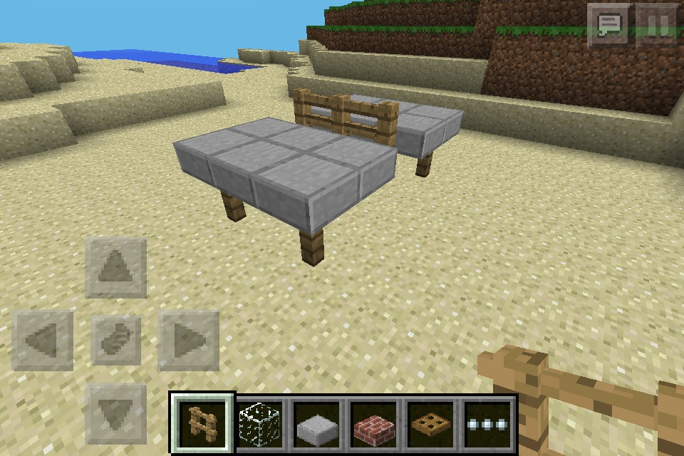 Ping pong table minecraft furniture for Minecraft coffee table