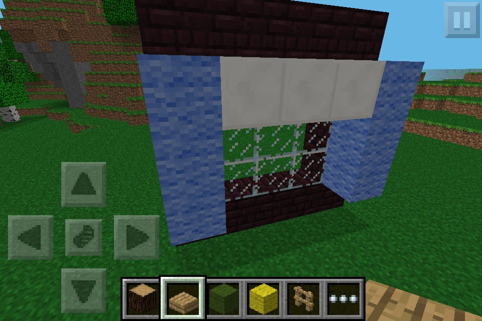 blue curtains minecraft furniture