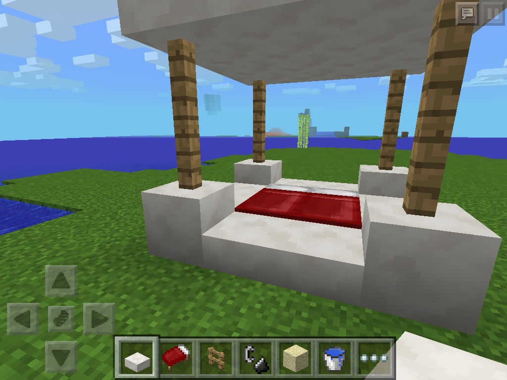 bed with roof minecraft furniture